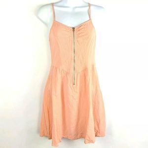 H&M Divided Salmon Pink Spaghetti Strap Dress Zip
